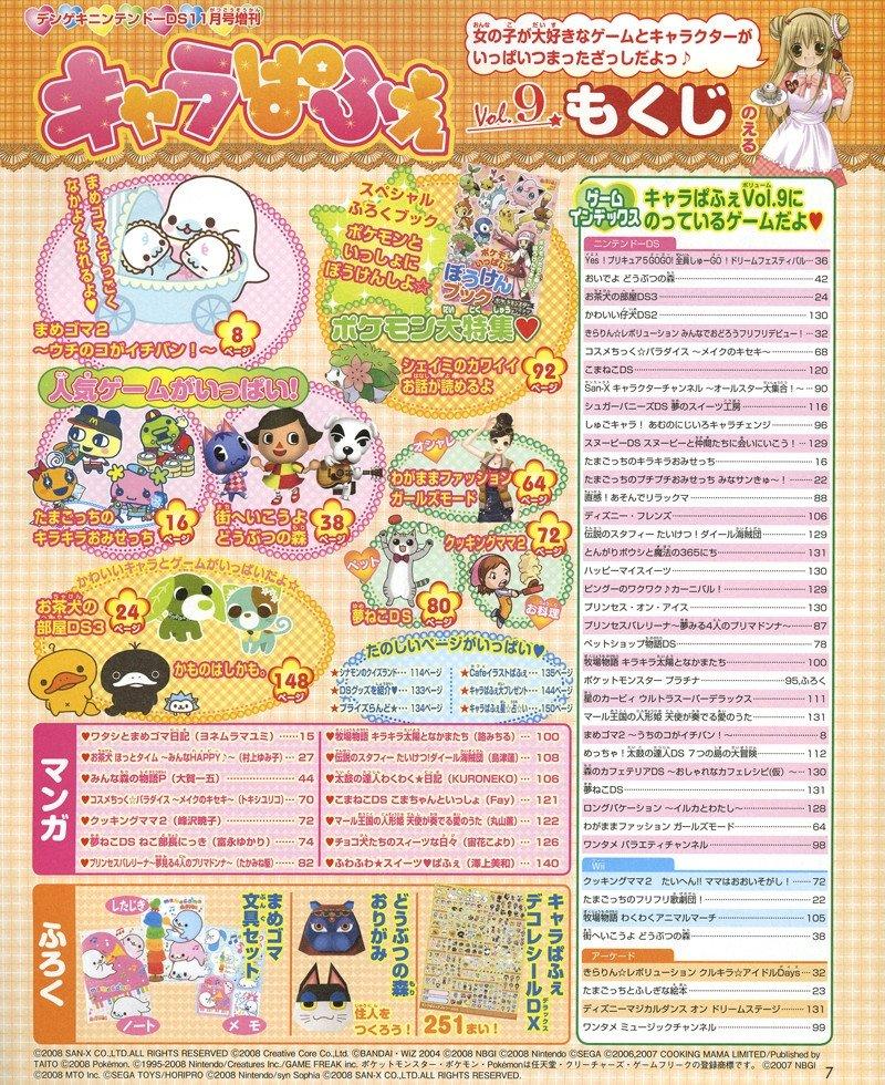 Chara Parfait Vol. 009 (November 2008)TOC.jpg