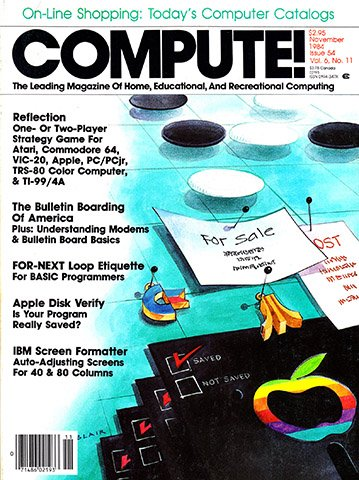 Compute! Issue 054 Vol. 6 No. 11 (November 1984)