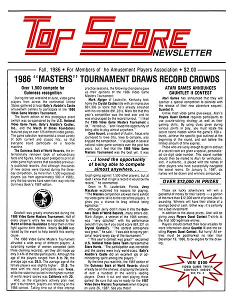 Top Score Issue 01 (Fall 1986)