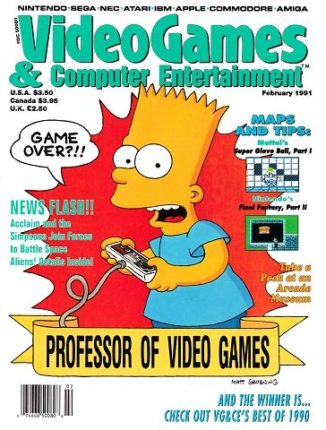 Video Games & Computer Entertainment Issue 25 (February 1991)