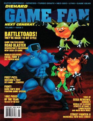 Die Hard Game Fan Volume 1 Issue 03 (January 1993)