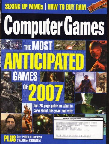 Computer Games Issue 194 (February 2007)