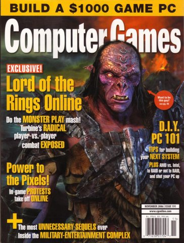 Computer Games Issue 191 (November 2006)