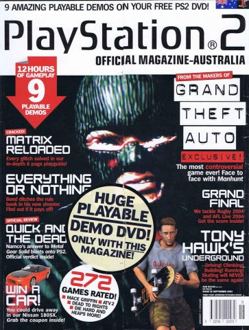 Playstation 2 Official Magazine (AUS) Issue 18 (September 2003)