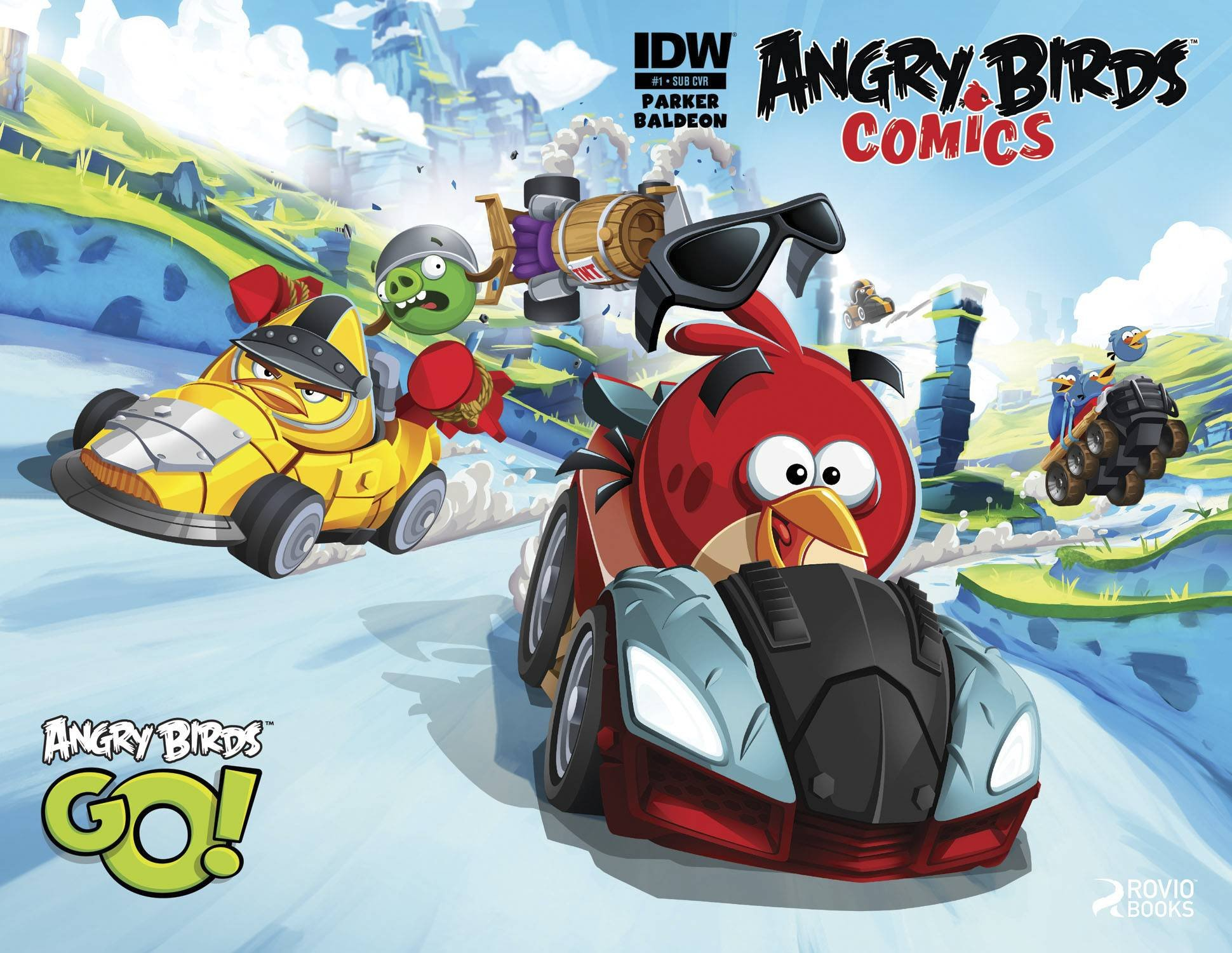 Angry Birds Comics 01 (June 2014) (subscriber cover)