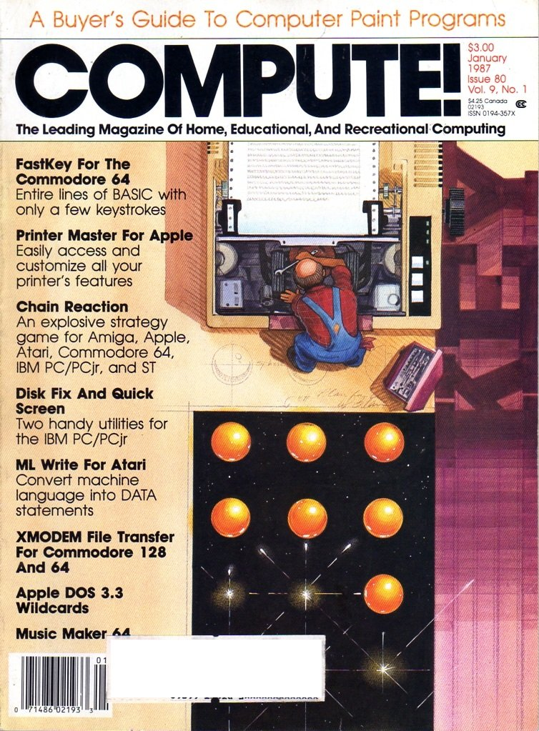 Compute! Issue 080 Vol. 09 No. 01 January 1987