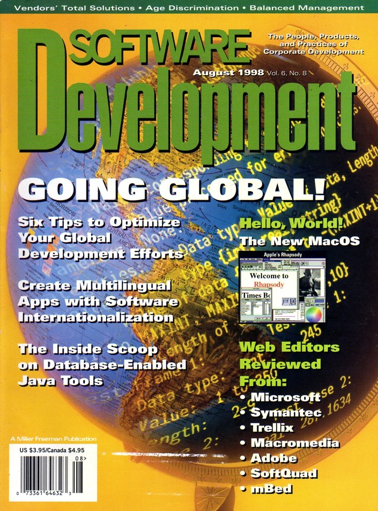 Software Development Vol. 06 No. 08 (August 1998)