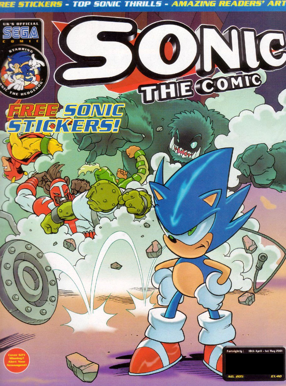 Sonic the Comic 205 (April 18, 2001)