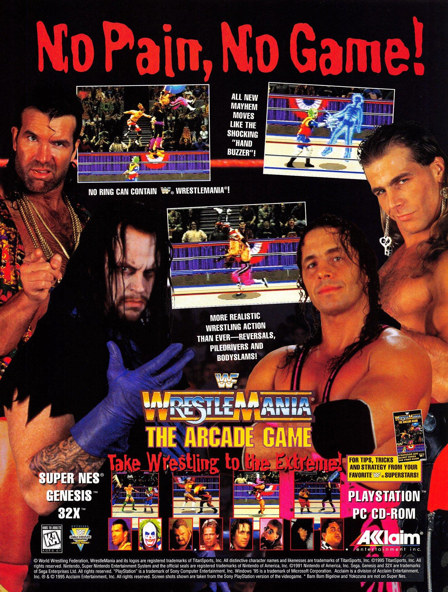 Resultado de imagen para WWF Wrestlemania ARCADE