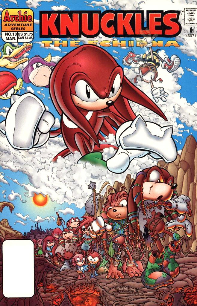 Knuckles the Echidna 10 (March 1998)
