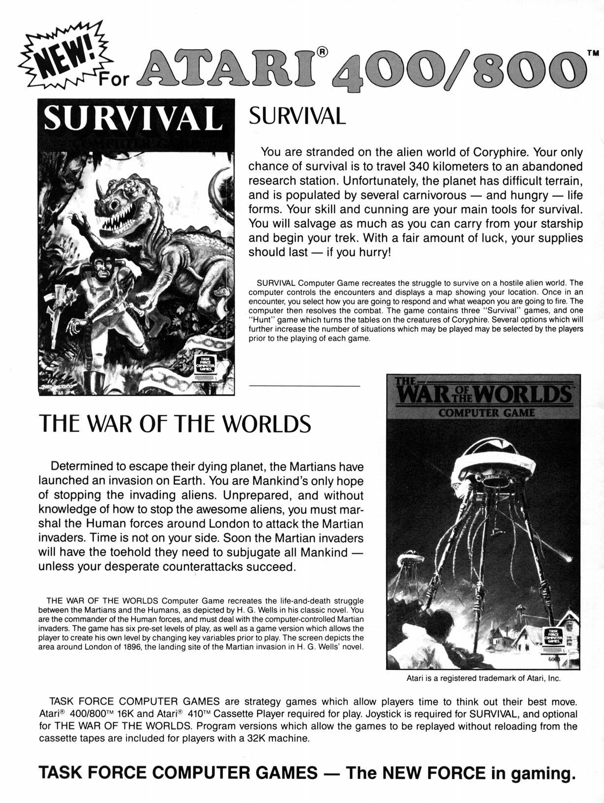 Survival, War of the Worlds