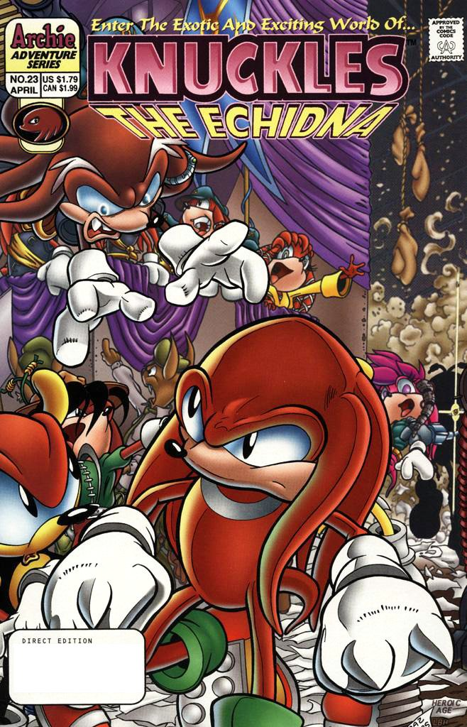 Knuckles the Echidna 23 (April 1999)