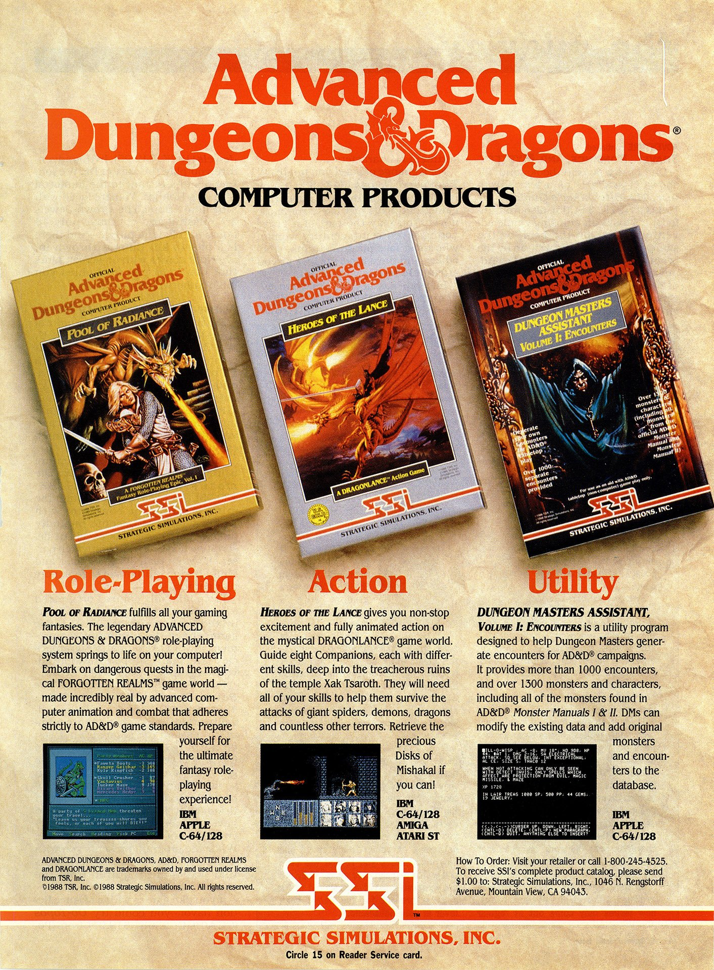 Pool of Radiance, Heroes of the Lance, Dungeon Master's Assistant