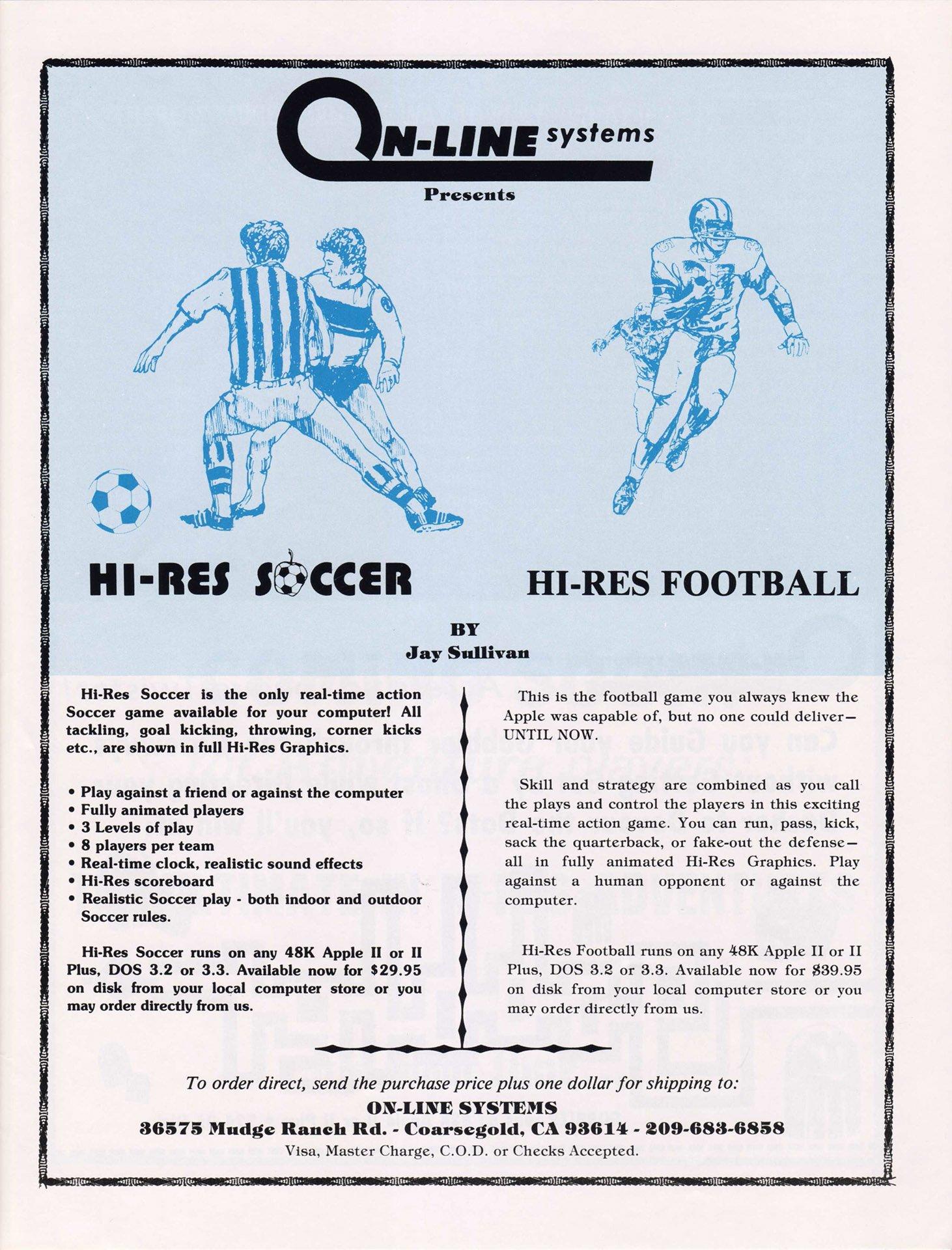 Hi-Res Soccer, Hi-Res Football