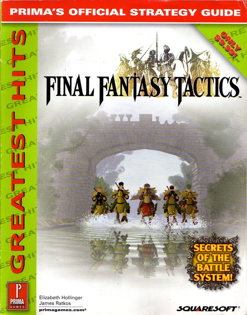 Final Fantasy Tactics Official Strategy Guide (Greatest Hits)