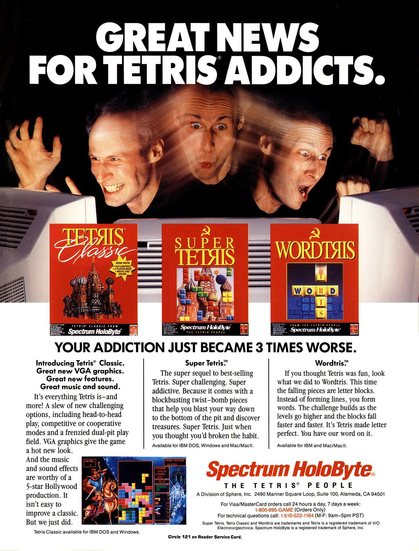 Tetris Classic, Super Tetris, Wordtris