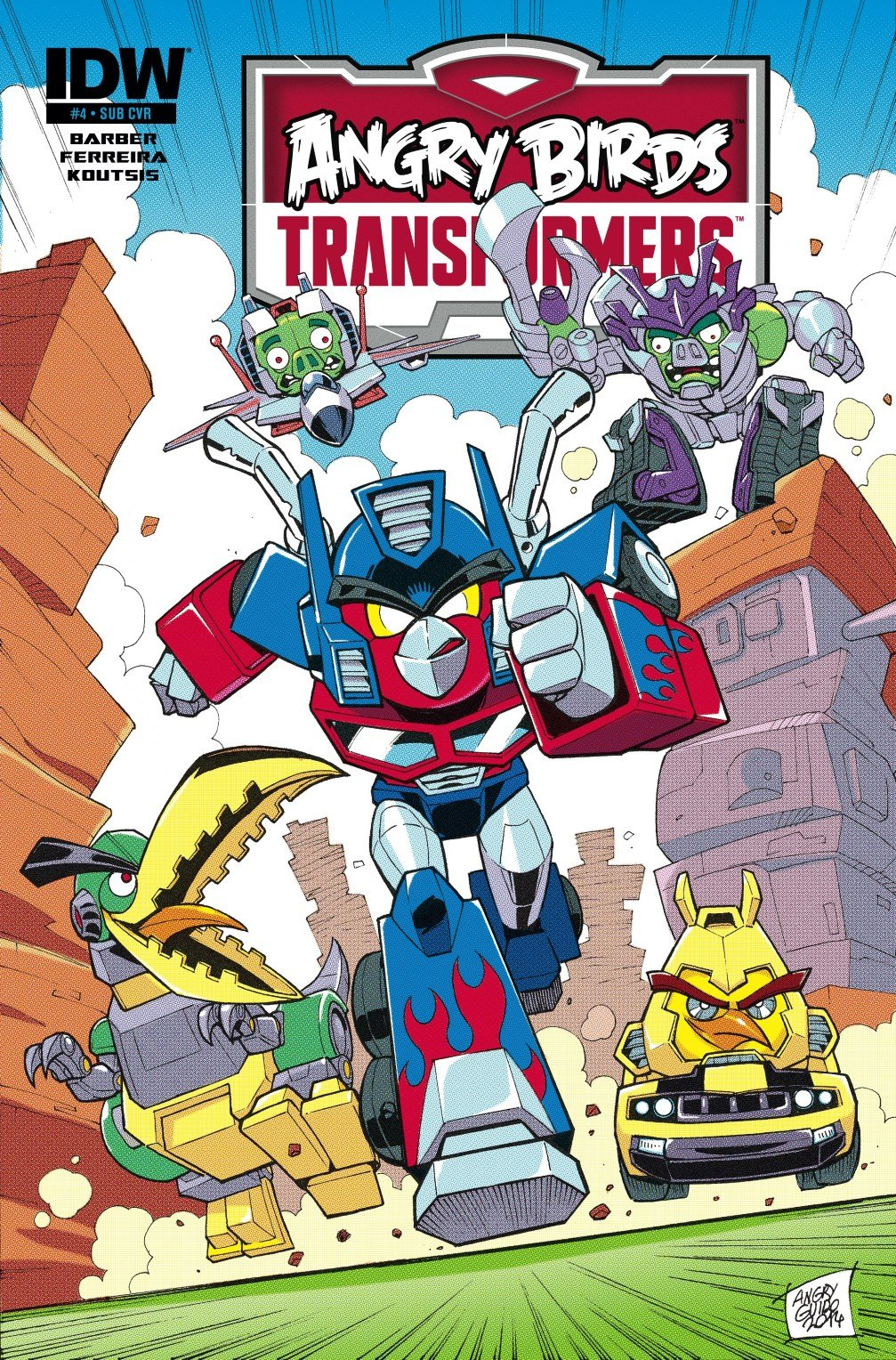 Angry Birds Transformers 04 (February 2015) (subscriber cover)