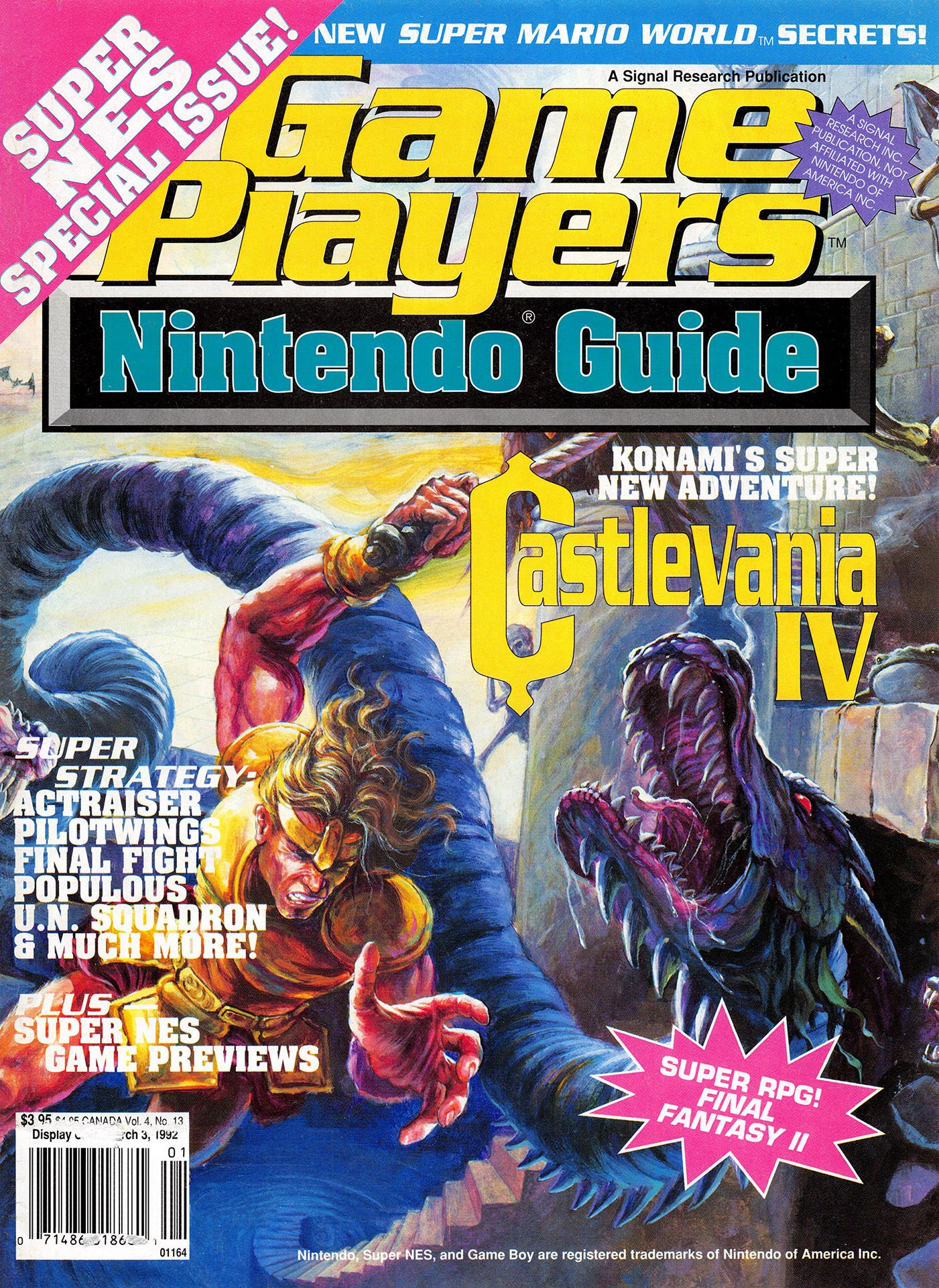 Game Players Nintendo Guide Vol.4 No.13 (Holiday 1991)