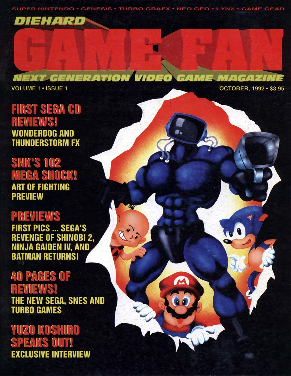 Diehard GameFan Issue 01 October 1992 (Volume 1 Issue 1)