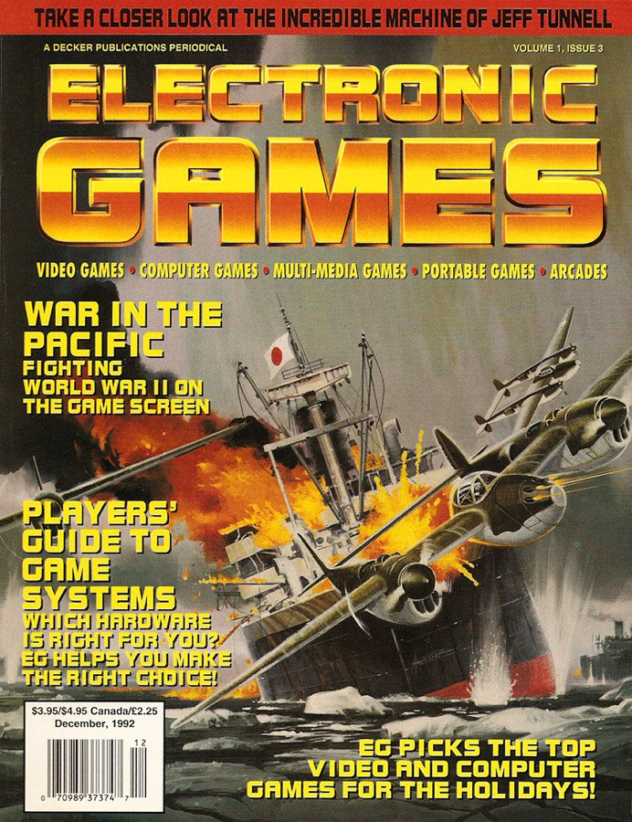 Electronic Games Issue 3 December 1992 (Volume 1 Number 3)