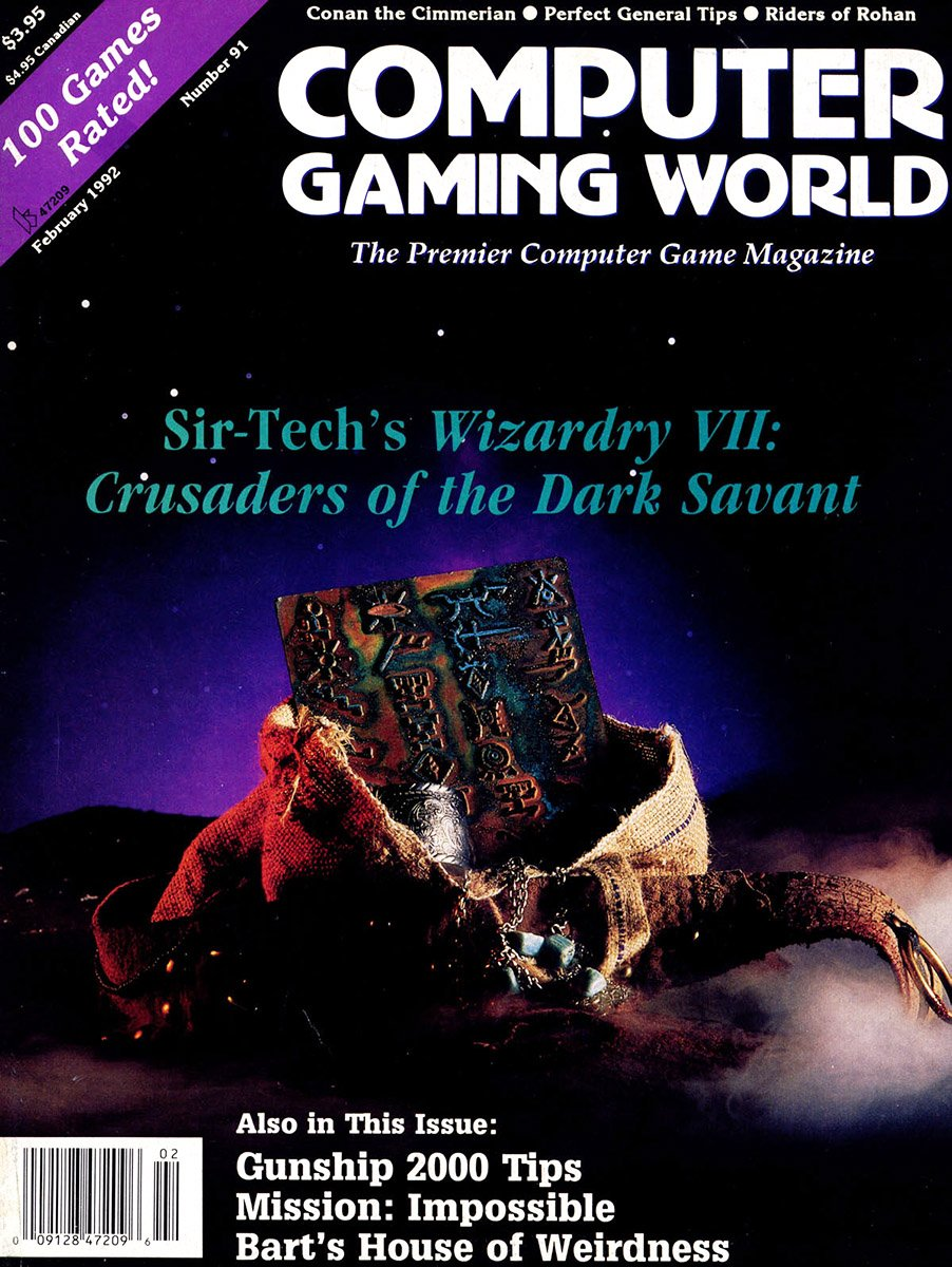 Computer Gaming World Issue 091 February 1992