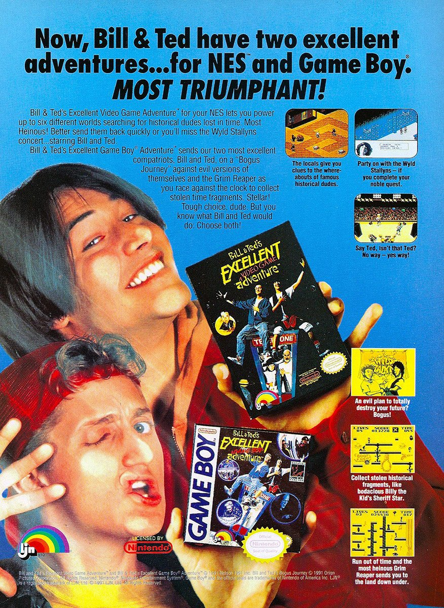 Bill & Ted's Excellent Video Game Adventure NES/GB (1991)