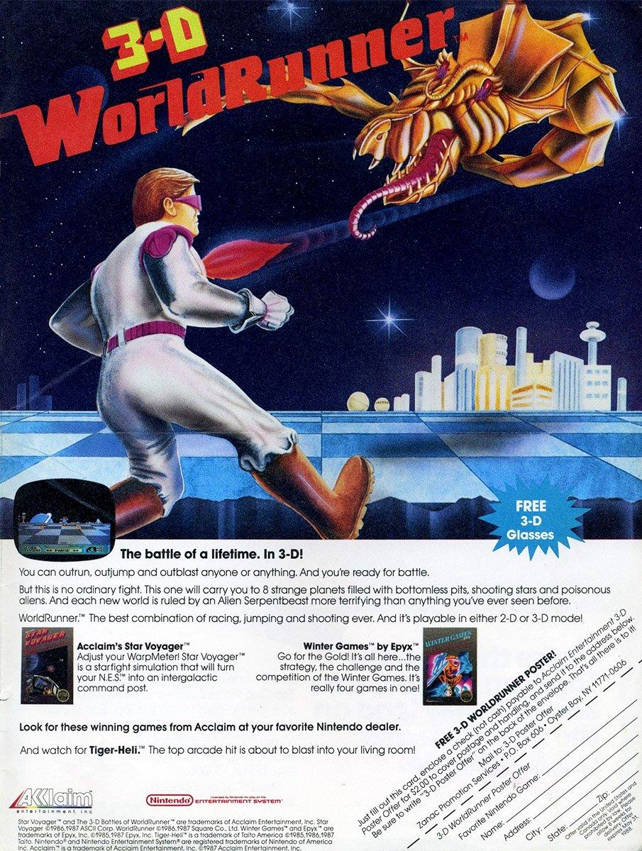 3D World Runner (1987)
