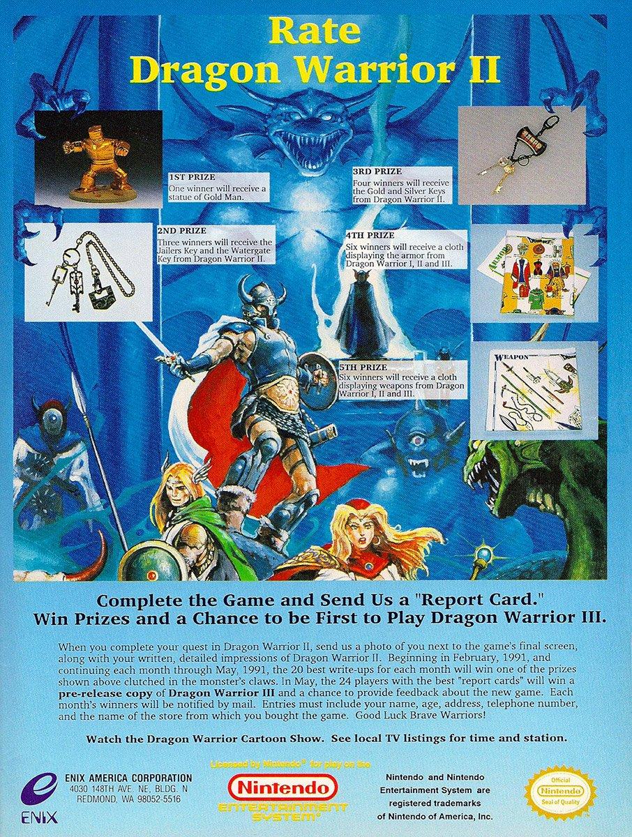 Dragon Warrior II contest