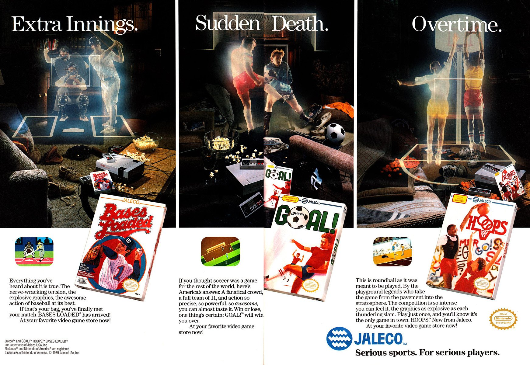 Jaleco sports multi-ad (1989)