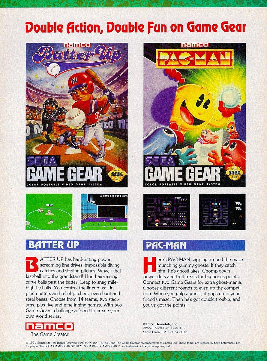 Namco multi-ad (Batter Up, Pac-Man) (1991)