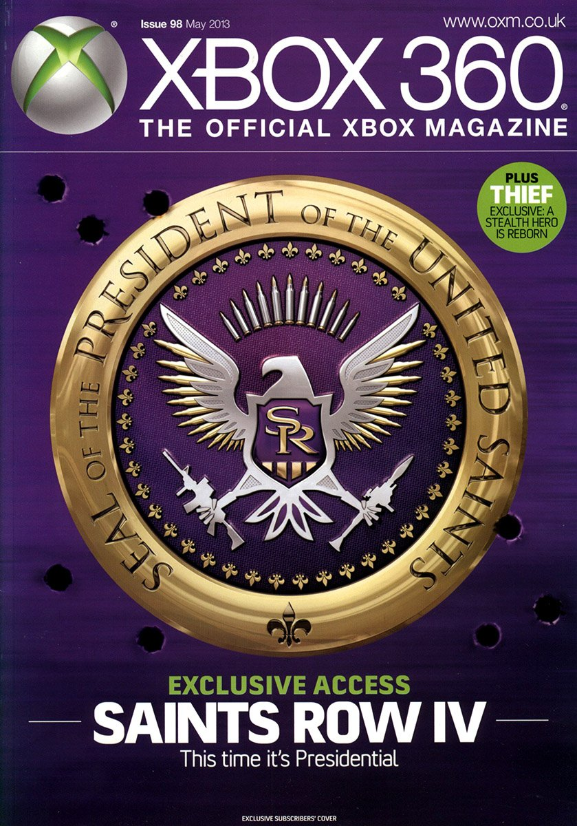 XBOX 360 The Official Magazine Issue 098 May 2013 subscriber's cover