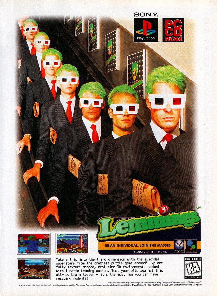 3D Lemmings (1995)