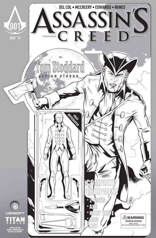 Assassin's Creed 001 (Larry's Comics BW variant) (November 2015)