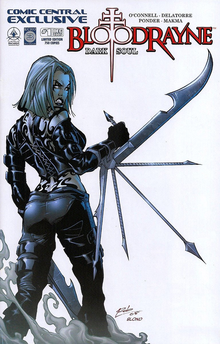 BloodRayne: Dark Soul (Comic Central variant) (October 2005)