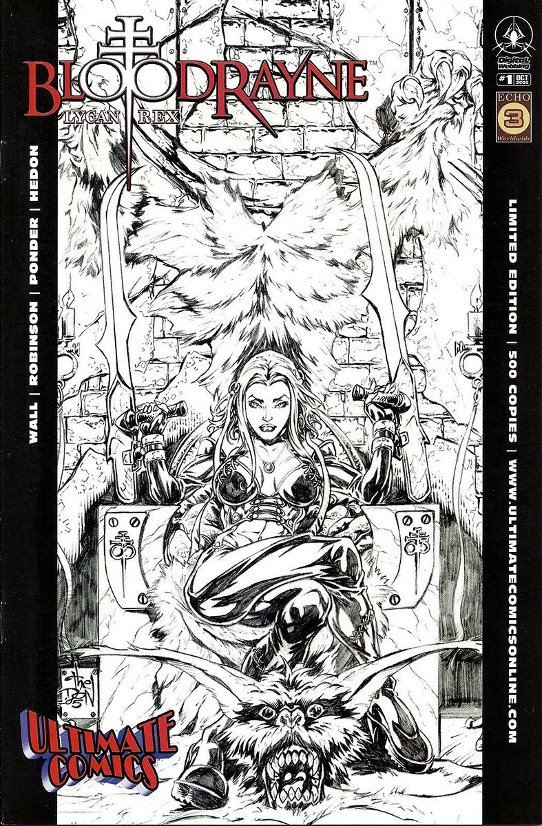 BloodRayne: Lycan Rex (Ultimate Comics BW variant) (October 2005)