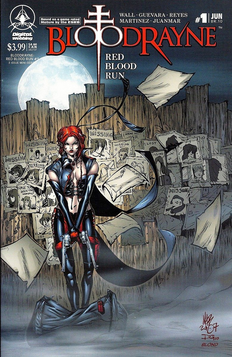BloodRayne: Red Blood Run 01 (cover b) (June 2007)