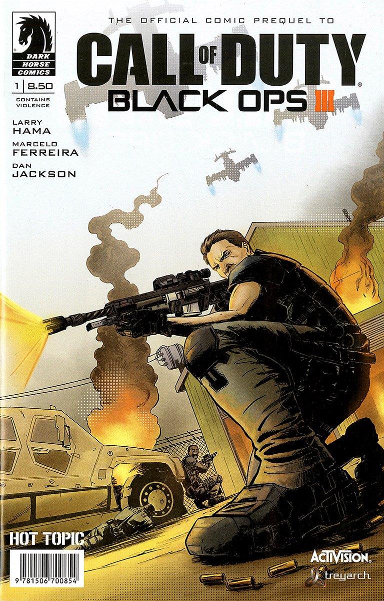 Call Of Duty - Black Ops III 001 (Hot Topic variant) (November 2015)
