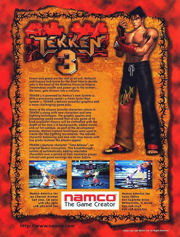 Tekken 3 (1997) back