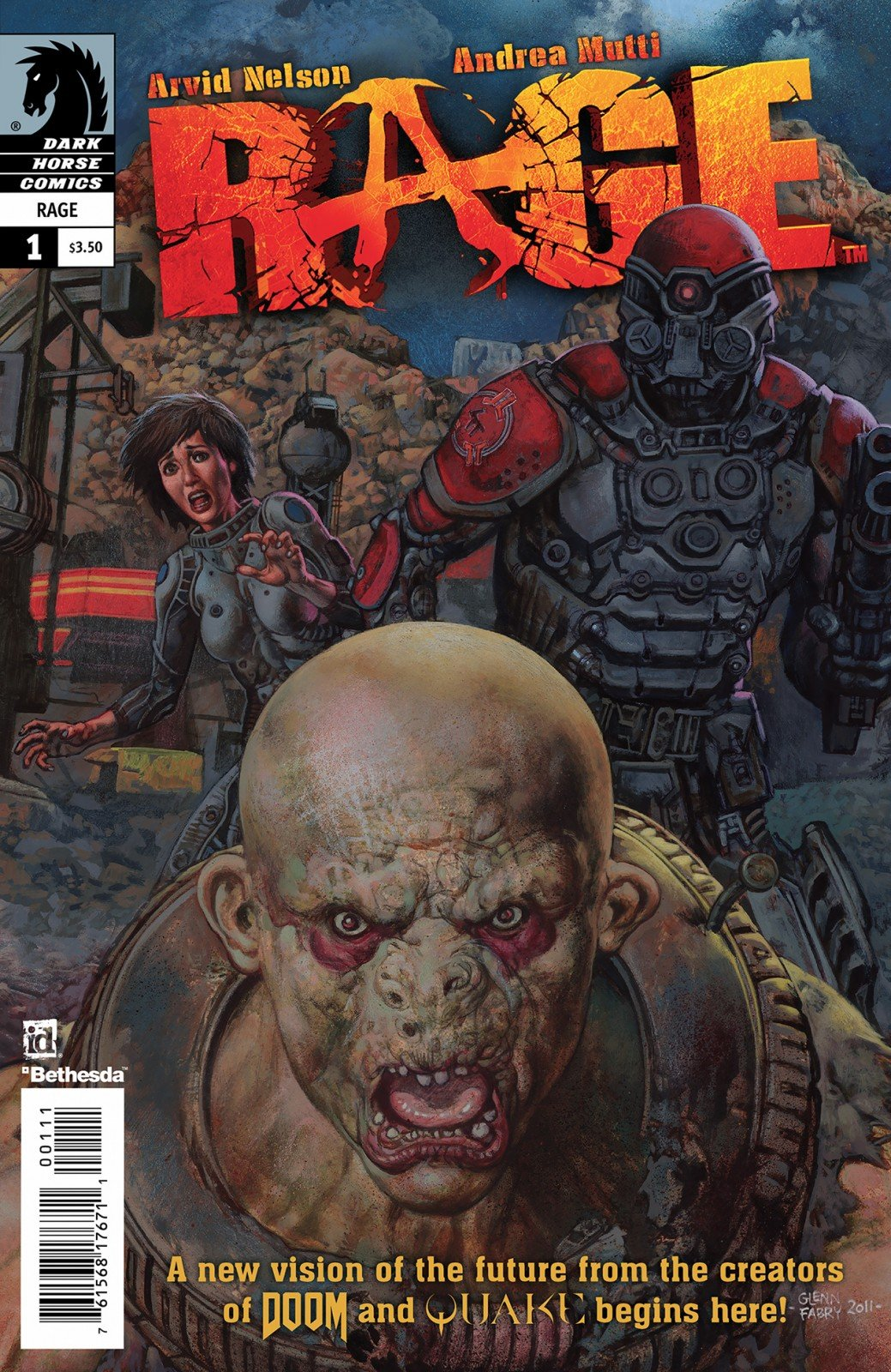 Rage 01 (cover a) (June 2011)