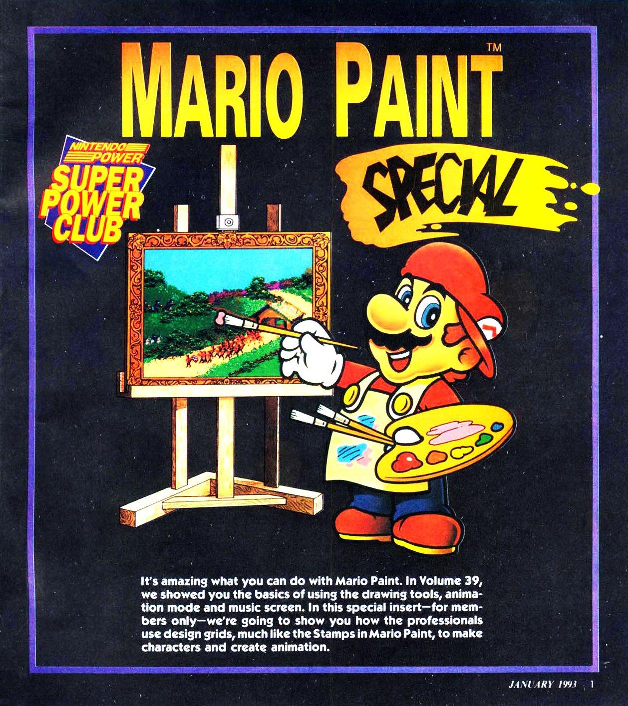 Mario Paint Special (January 1993)