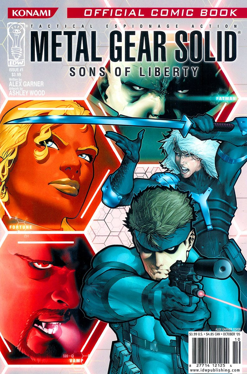 Metal Gear Solid: Sons Of Liberty Issue 01 (cover a) (October 2005)