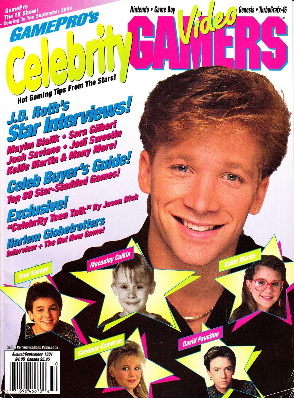 GamePro's Celebrity Video Gamers August/September 1991