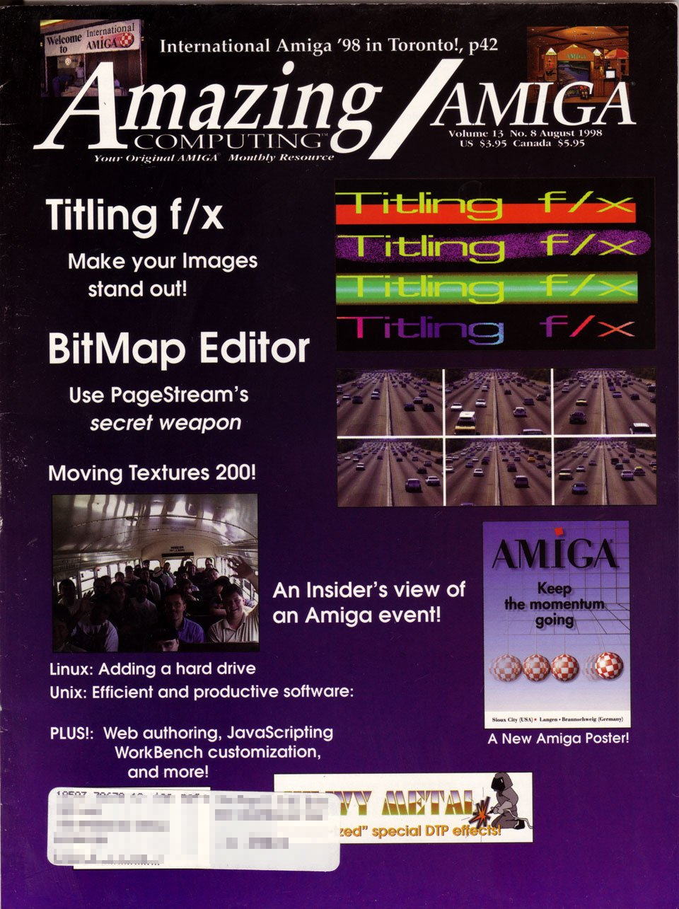 Amazing Computing Issue 146 Vol. 13 No. 08 (August 1998)
