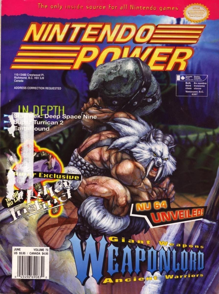 Nintendo Power Issue 073 (June 1995)