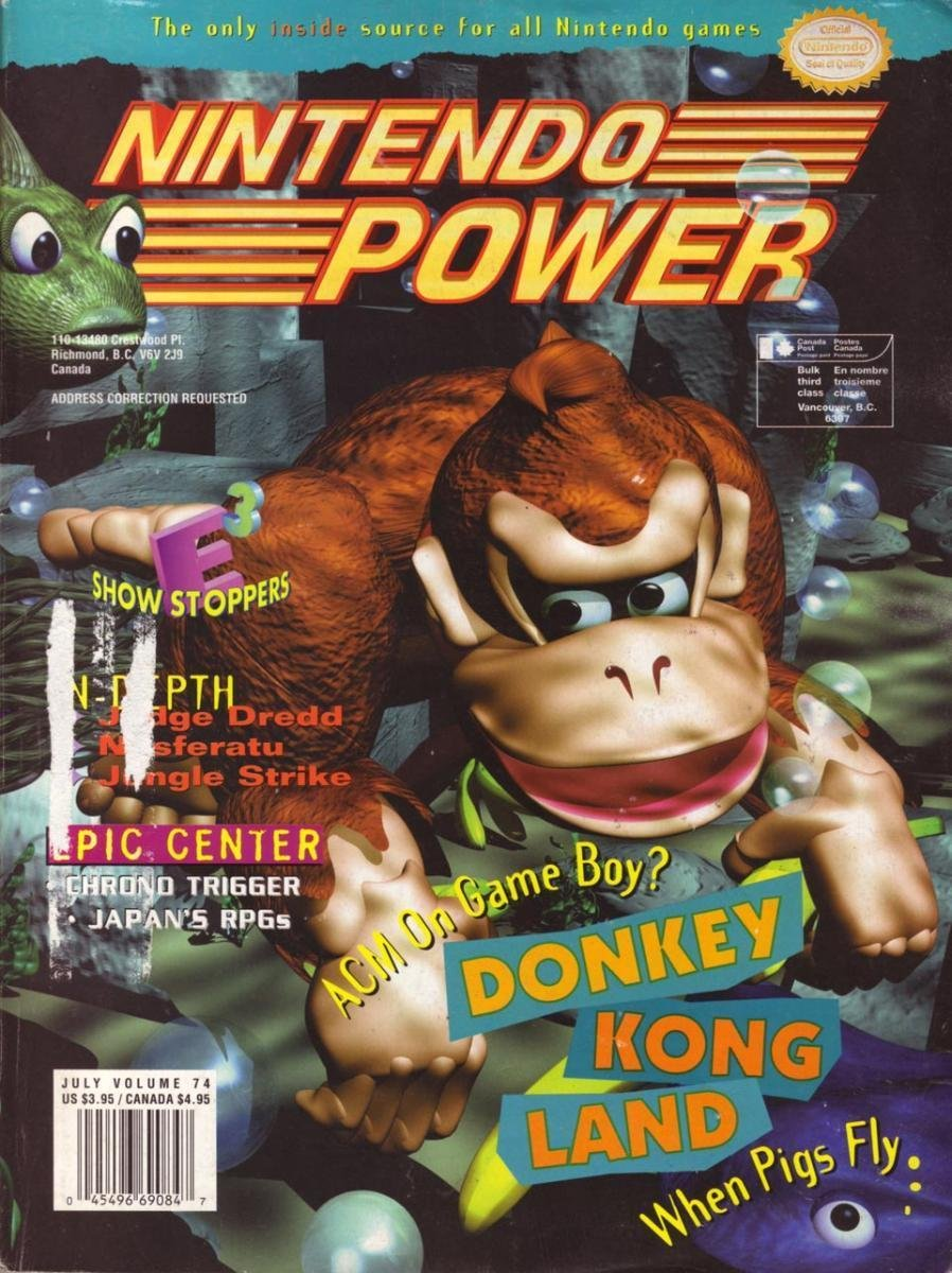Nintendo Power Issue 074 (July 1995)