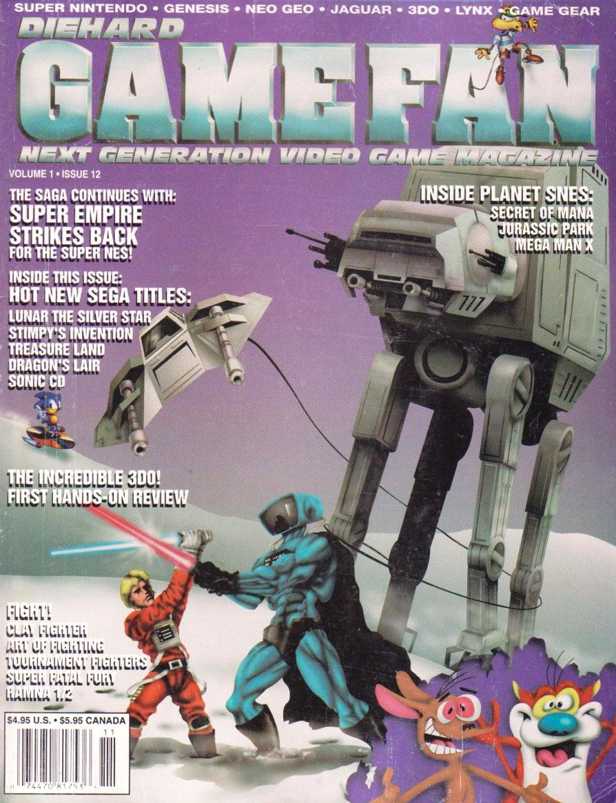 Gamefan Issue 12 November 1993 (Volume 1 Issue 12)