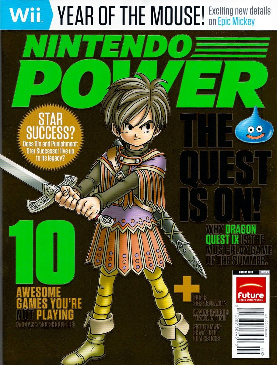 Nintendo Power Issue 257 August 2010 Retail Cover