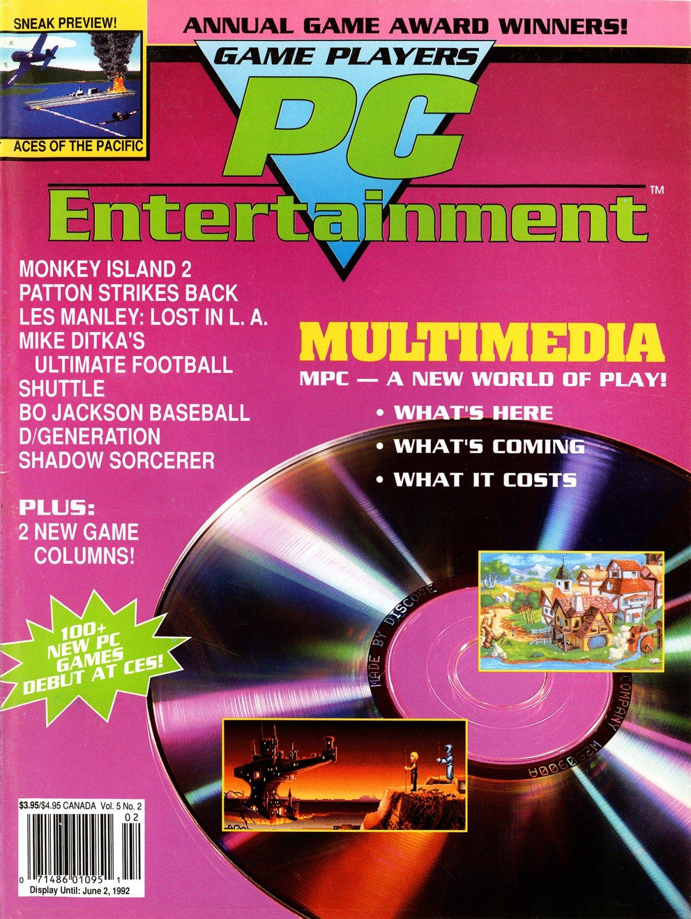 Game Players PC Entertainment Vol.5 No.2 (March/April 1992)