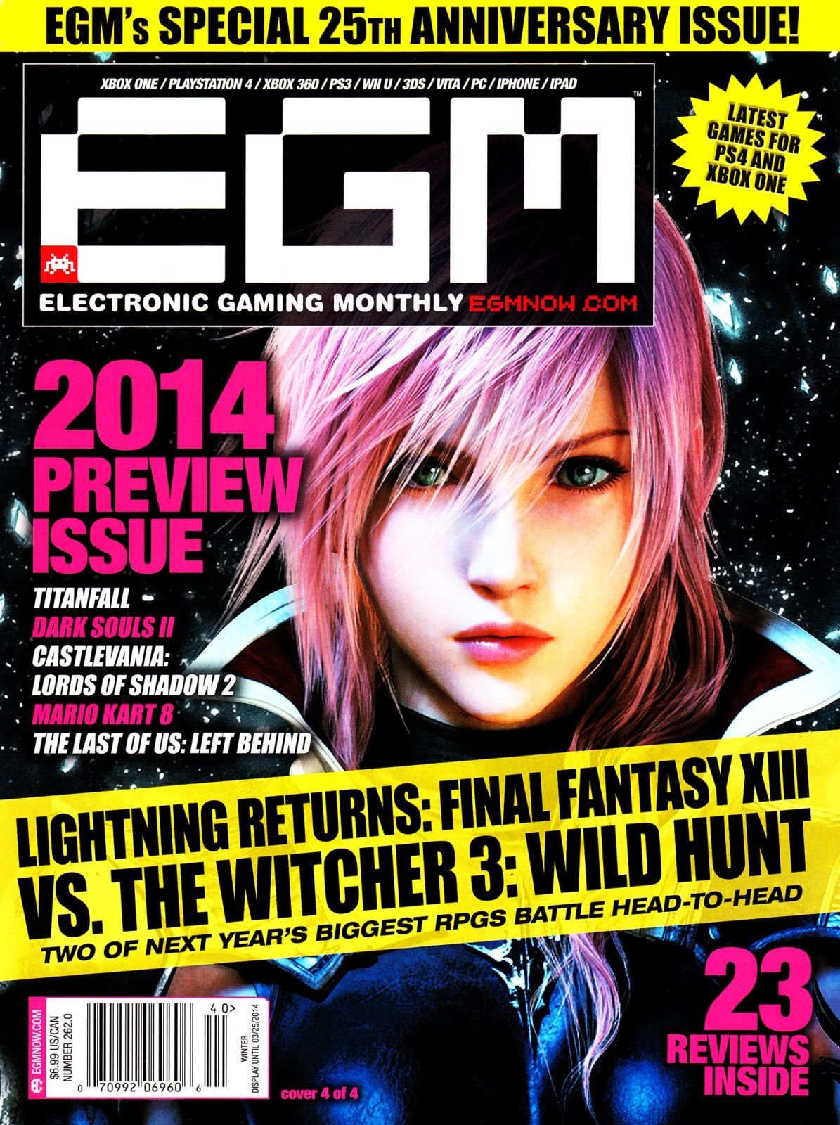Electronic Gaming Monthly Issue 262 Winter 2014 (Cover 4 of 4)