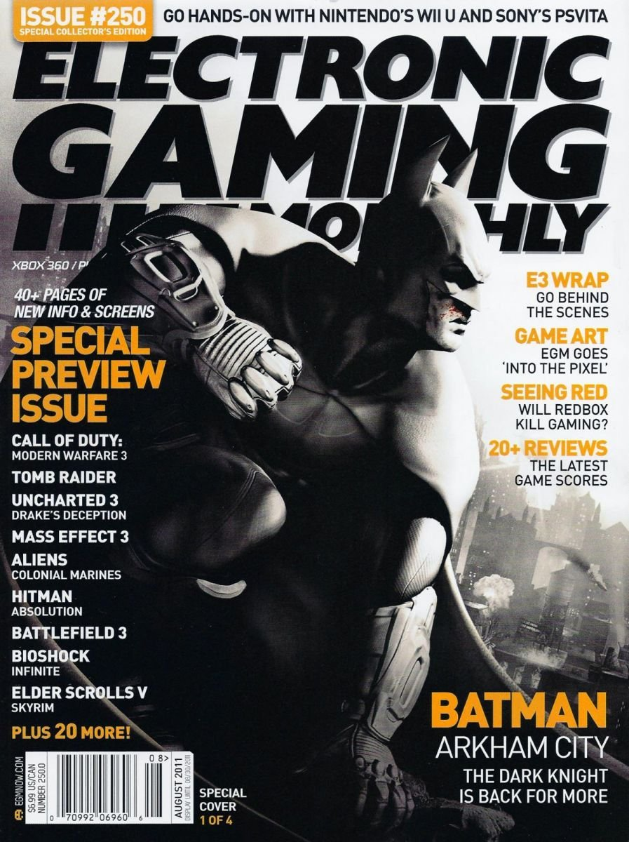 Electronic Gaming Monthly Issue 250 August 2011 Cover 1 of 4